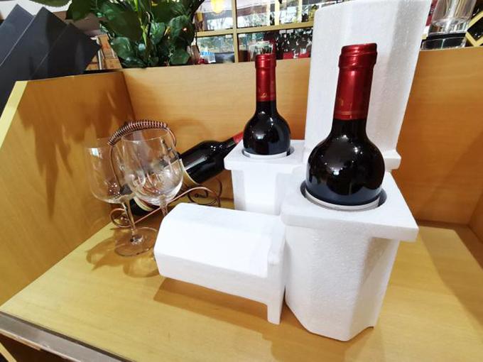 昊瑞包装客户案例-某红酒商定制EPS红酒泡沫箱